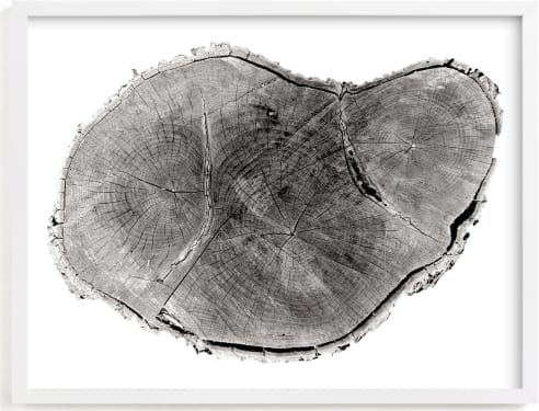 This is a black art by Mackenzie Darrach called Tree Rings pt. 1.