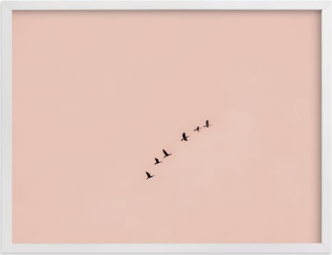 This is a pink art by Kaitie Bryant called Birds in Flight.
