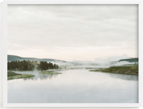 This is a grey art by Kamala Nahas called Misty lake.