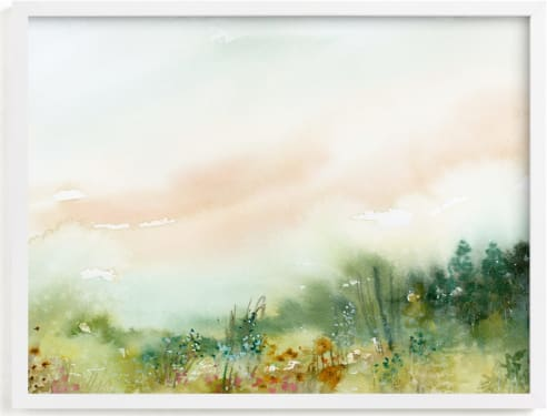 This is a yellow art by Lindsay Megahed called MeadowLand.