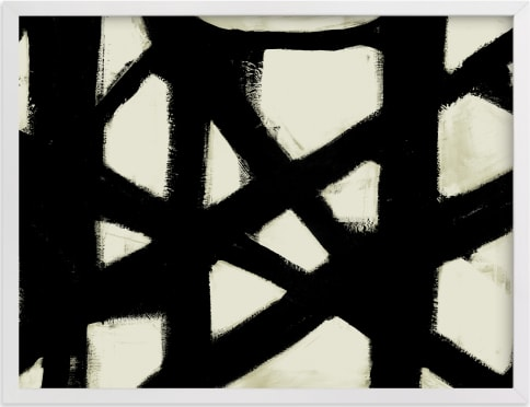 This is a black and white art by Ilana Greenberg called Missed Connections.