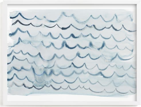 This is a blue art by Kelly Witmer called waves.