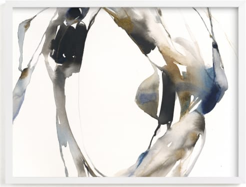 This is a blue art by Michelle Lee called Surrounding.