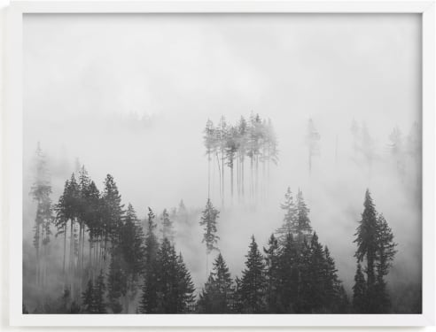 This is a grey art by Jennifer Morrow called Morning Fog.