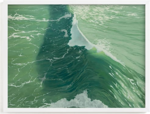 This is a blue art by Denny Holland called Salinity Now.