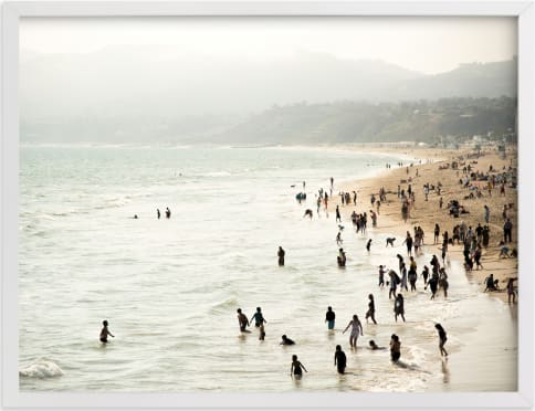 This is a white art by Emmy Hagen called Seaside Contrast.
