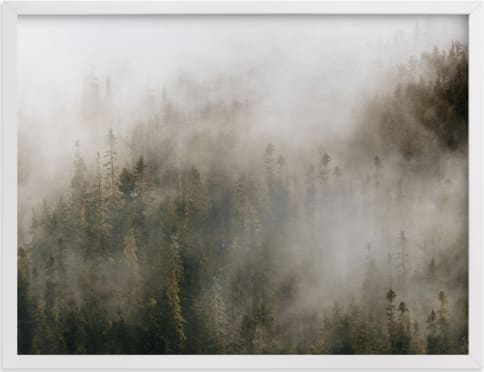 This is a white art by Pockets of Film called Pacific North Fog.