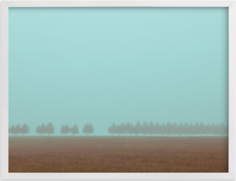 This is a blue art by Gabrial Reising called Shrouded Trees.