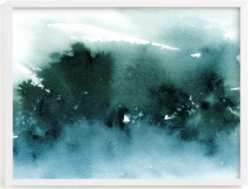 This is a blue art by Lindsay Megahed called misty forest.