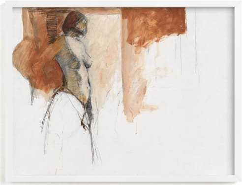 This is a brown art by Patricia Robitaille called after the bath.