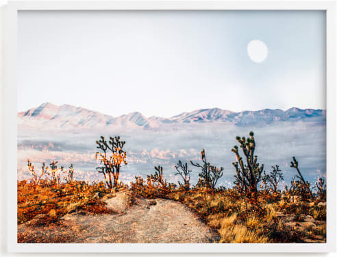This is a blue art by Kate Baird called Desert Super Moon.