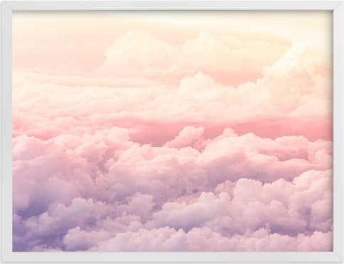 This is a purple art by Rebecca Rueth called Cloudscape.