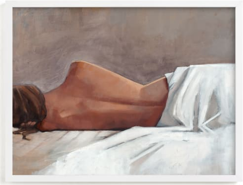 This is a white art by Rachel Nelson called Draped Figure Study in White.