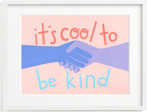 This is a blue kids wall art by Candace Wiant called It's Cool to Be Kind.