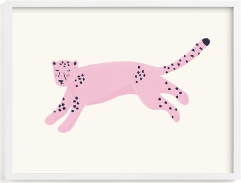 This is a pink kids wall art by Tennie and Co. called Fierce.