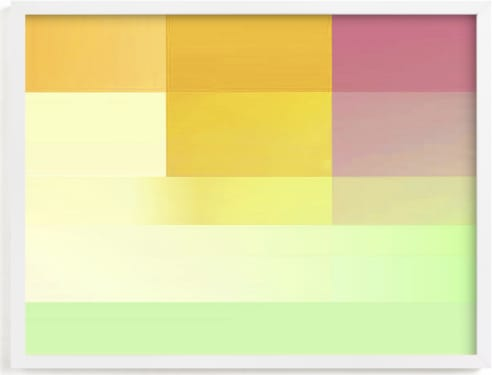 This is a blue kids wall art by Baumbirdy called gradients of color.