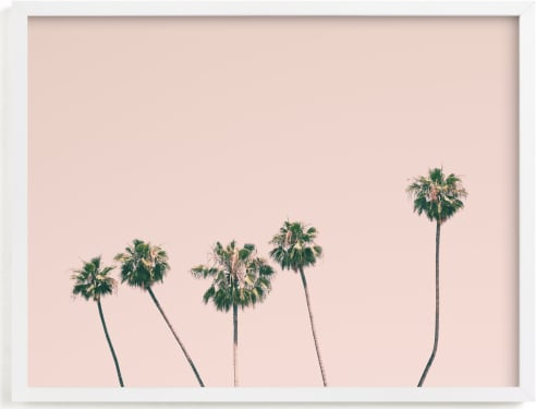 This is a pink kids wall art by Caroline Mint called Five.
