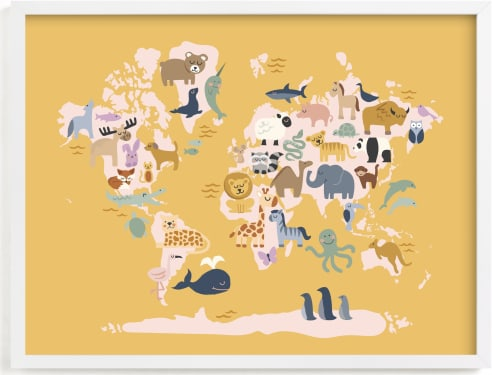 This is a colorful art by Jessie Steury called Wild World Map.