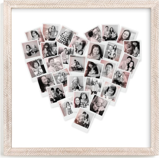 This is a pink photo art by Minted called Filter Heart Snapshot Mix® Photo Art.