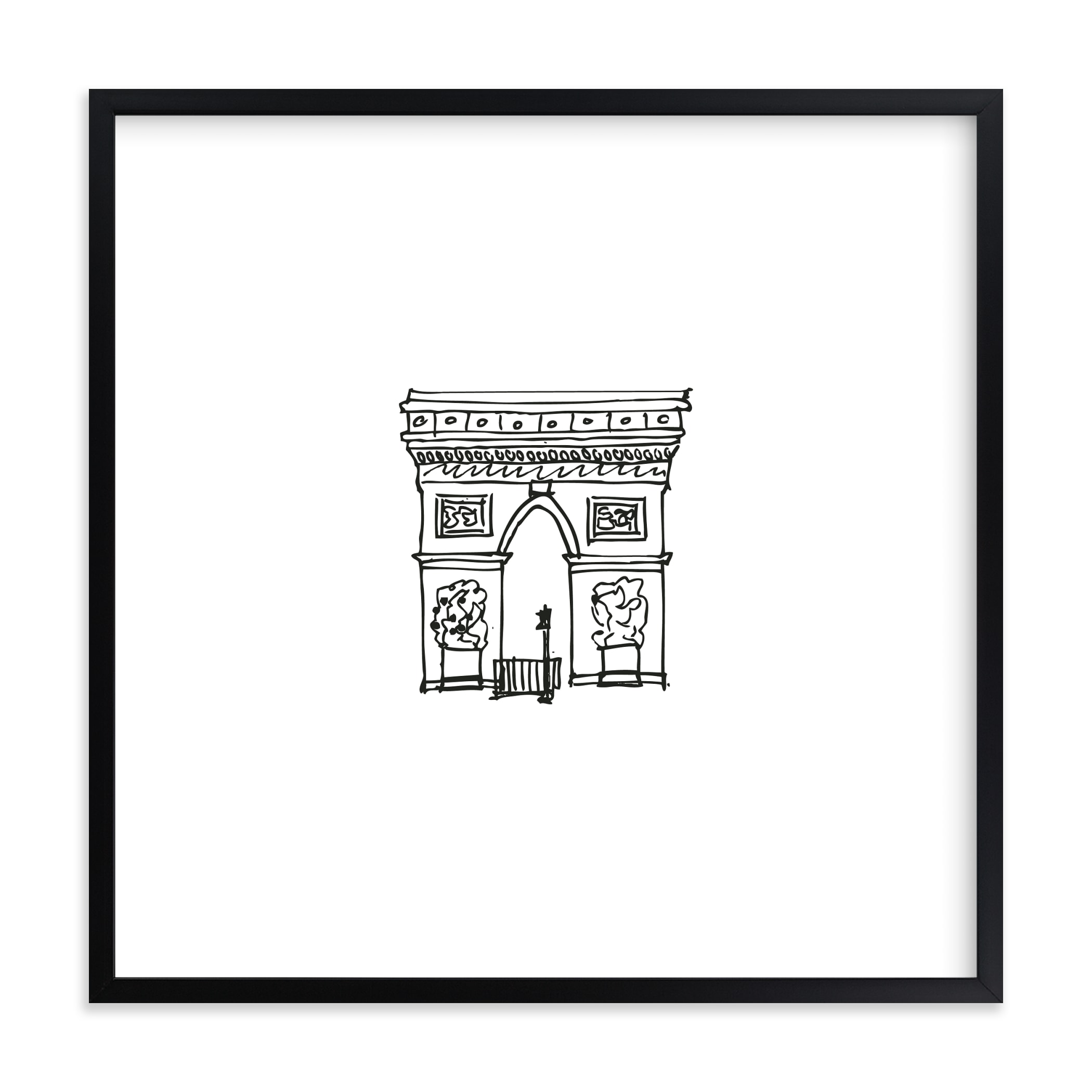 """The Arc de Triomphe Paris"" - Limited Edition Art Print by Phrosne Ras in beautiful frame options and a variety of sizes."