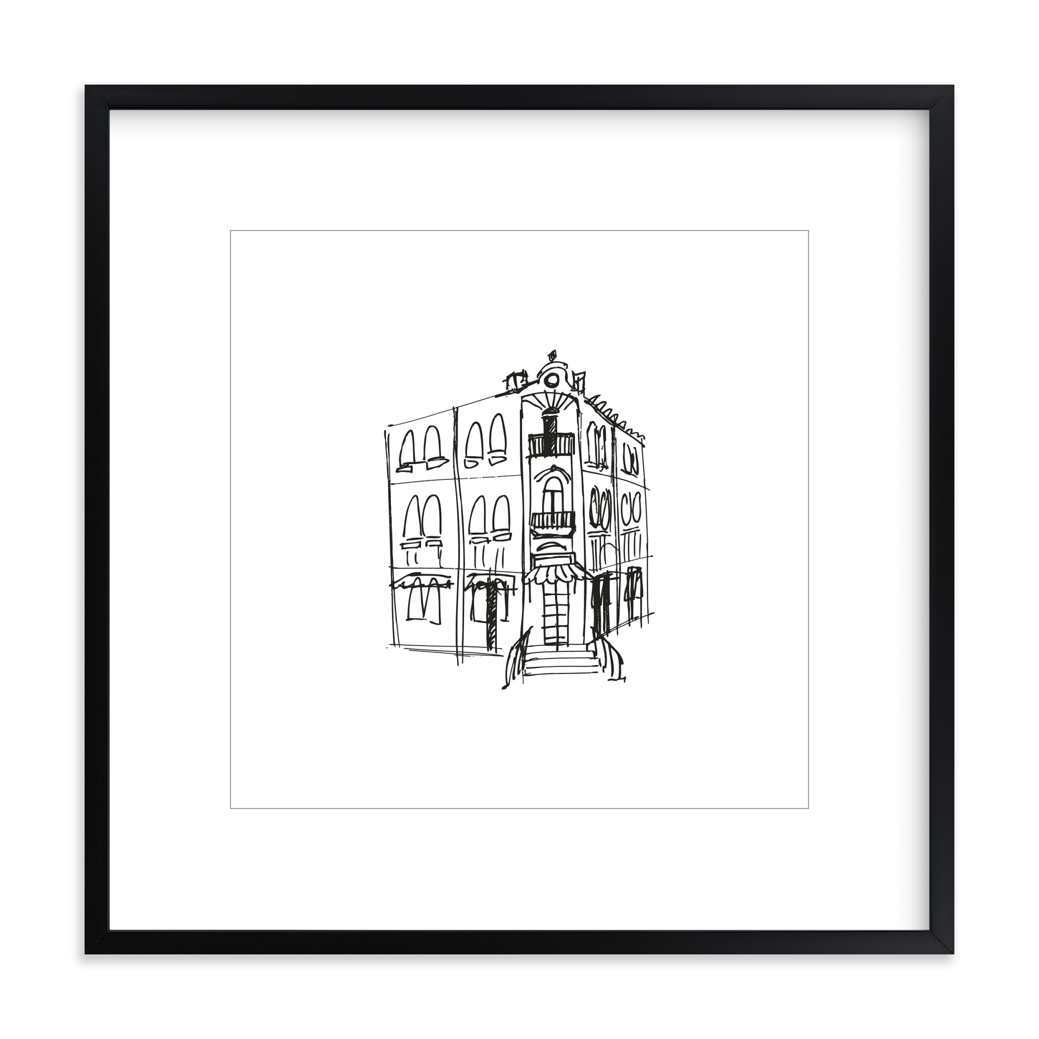 """""""Paris Street Shop 3"""" - Limited Edition Art Print by Phrosne Ras in beautiful frame options and a variety of sizes."""