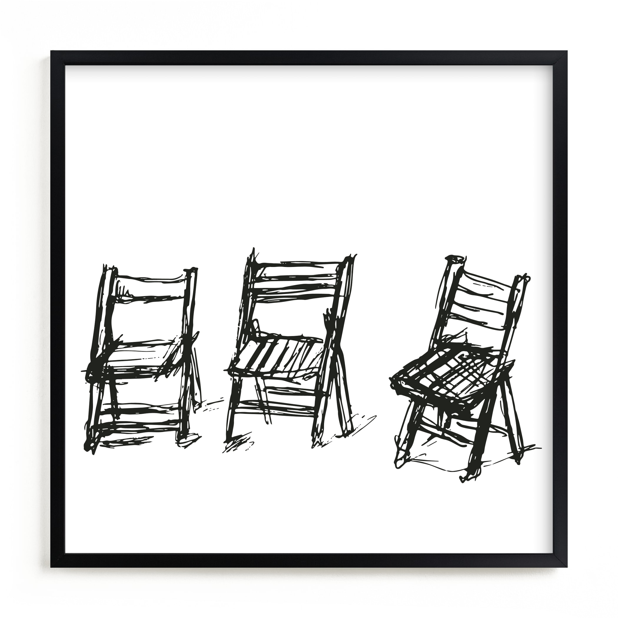 """Three Chairs"" - Limited Edition Art Print by Michael Hovitch in beautiful frame options and a variety of sizes."