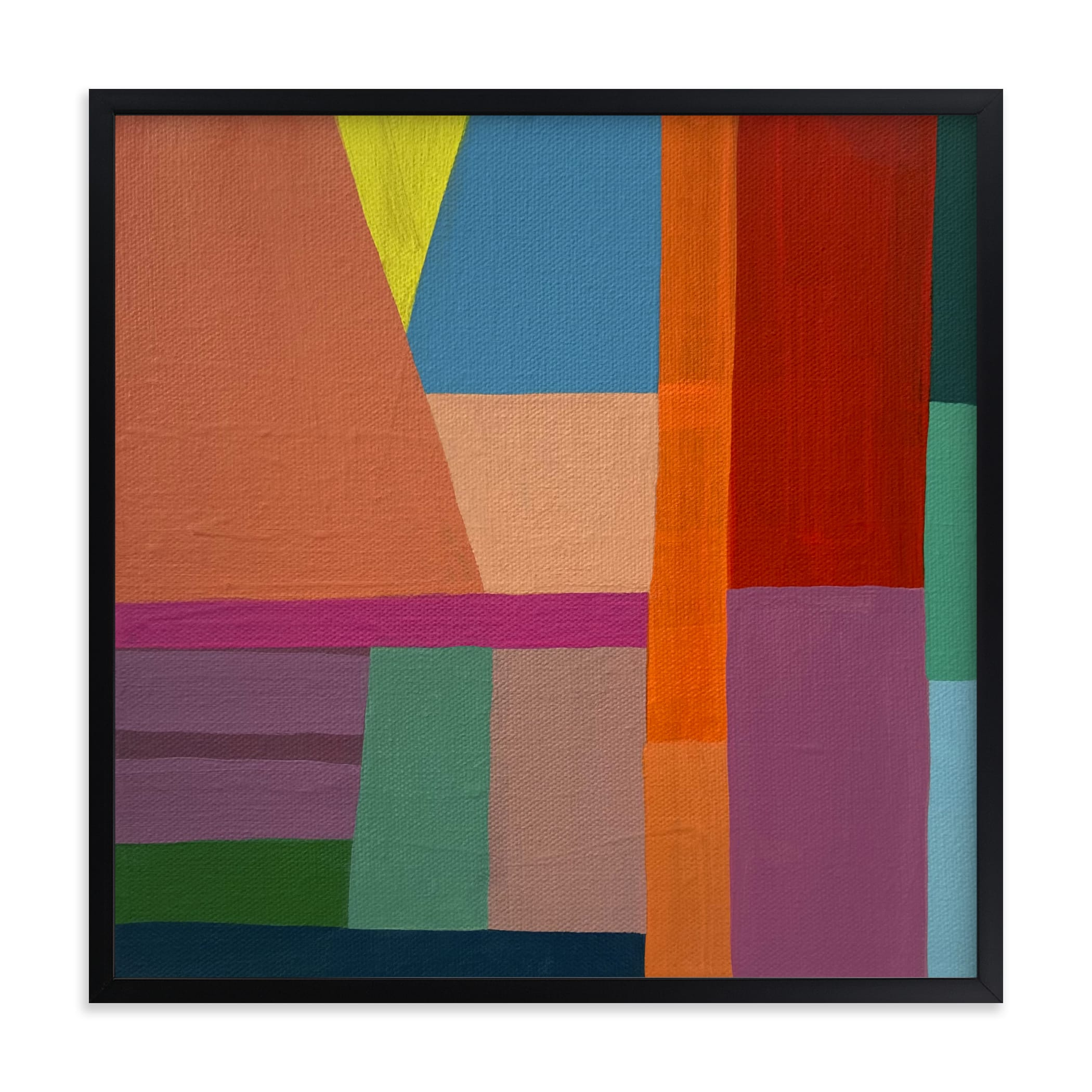 """""""Shape of Memory: Desert Sunrise"""" by Poppy Dodge in beautiful frame options and a variety of sizes."""
