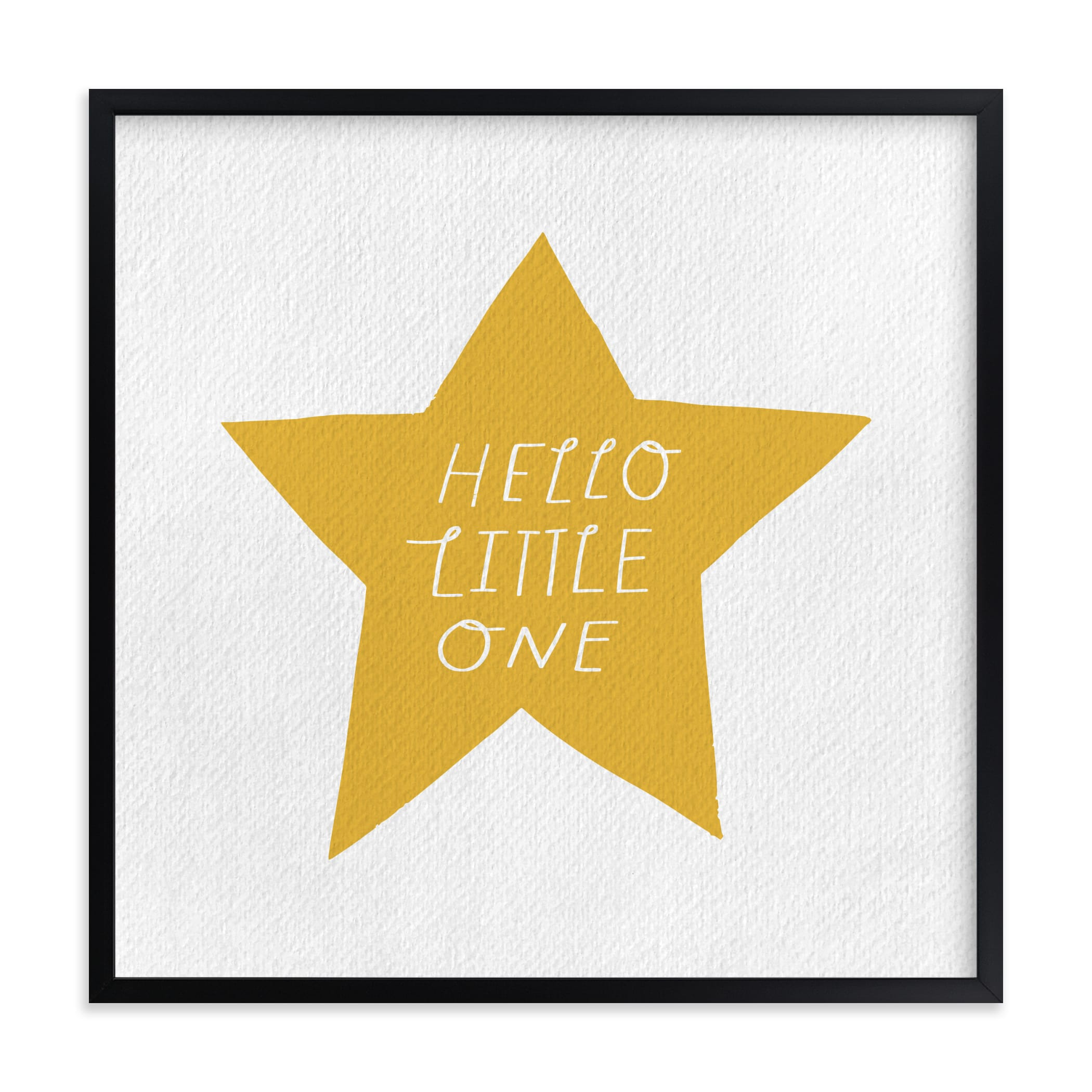 """""""Hello Little One"""" - Limited Edition Art Print by Little Miss Missy in beautiful frame options and a variety of sizes."""