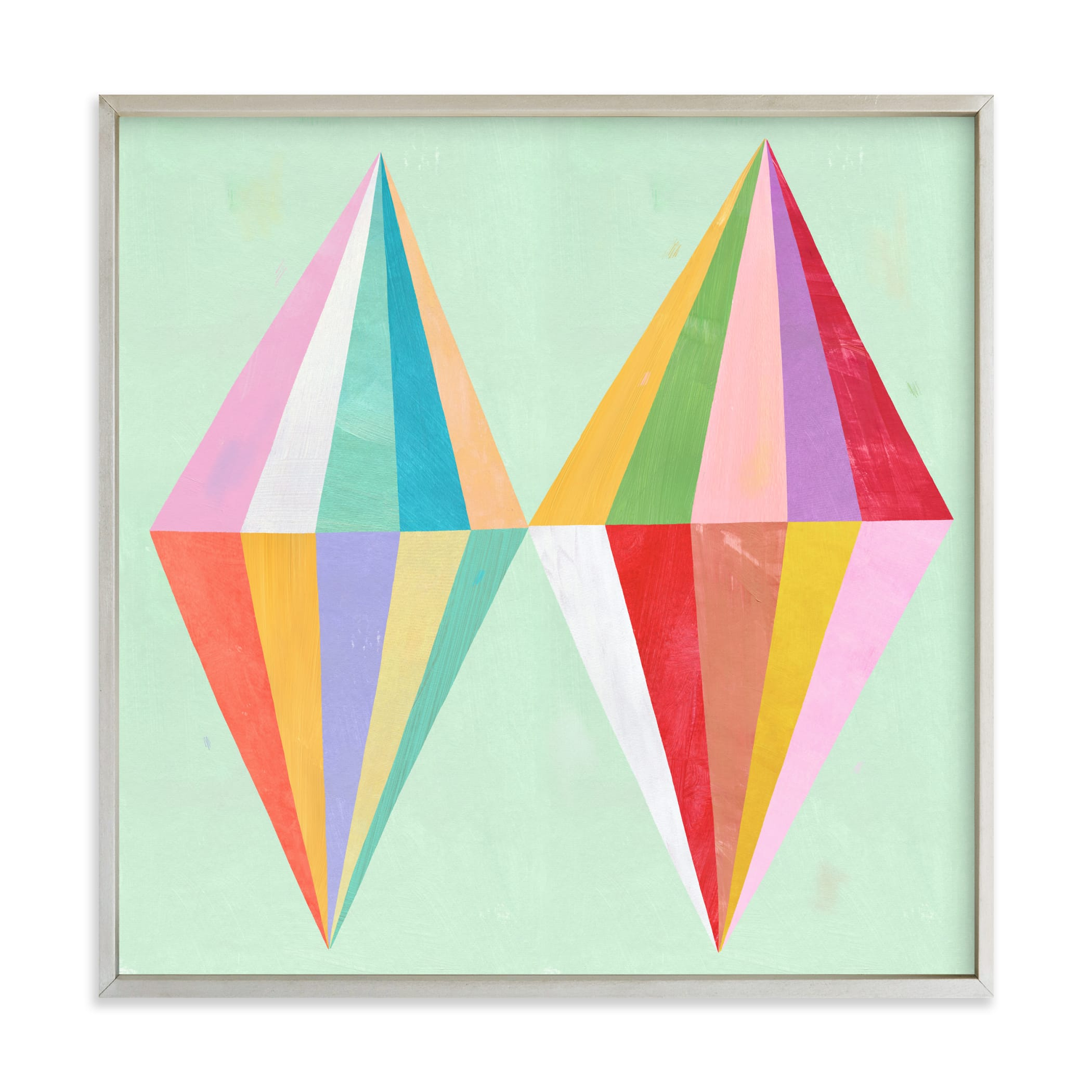 """""""Two Diamonds"""" - Limited Edition Art Print by melanie mikecz in beautiful frame options and a variety of sizes."""