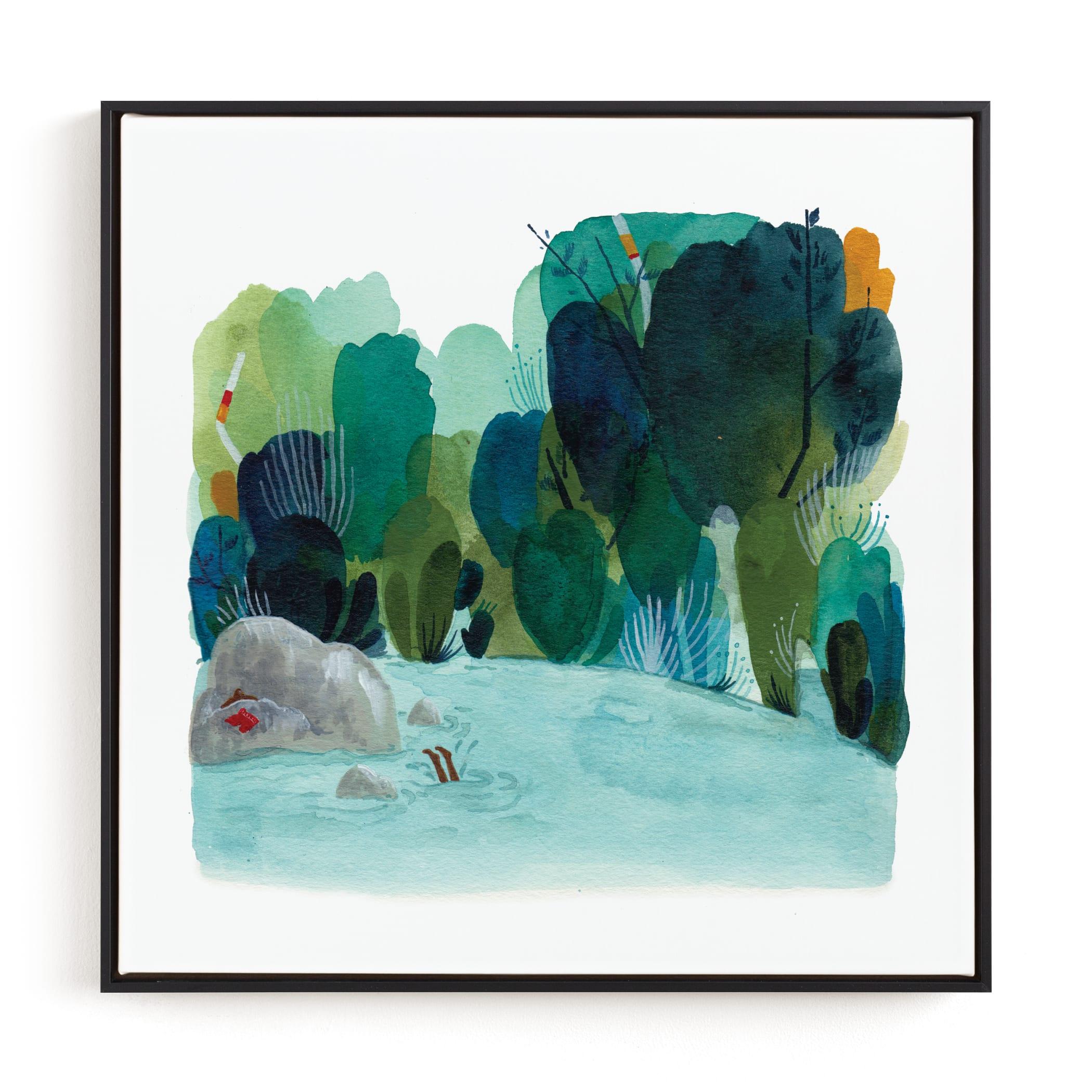 The Swimming Hole Children's Art Print