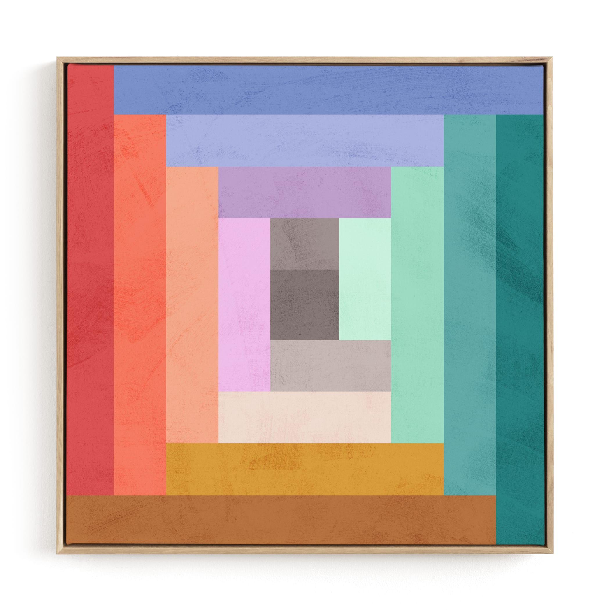Modern Quilt Geometric Children's Art Print