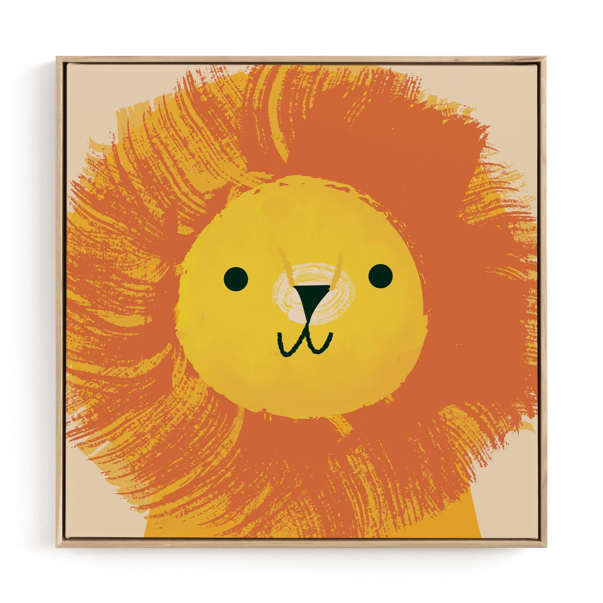 King Of The Jungle Nursery Art Print
