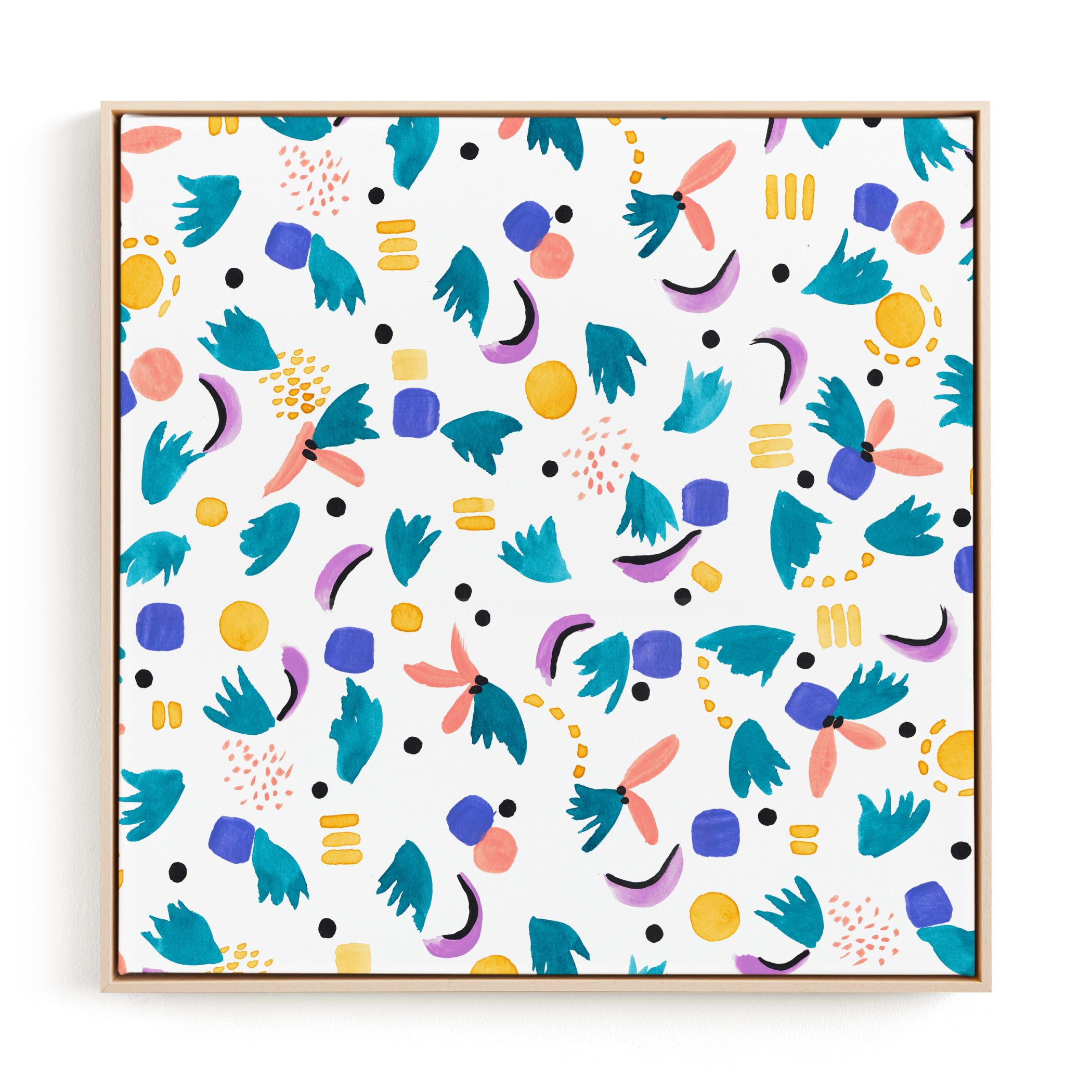 Geometric plants Children's Art Print
