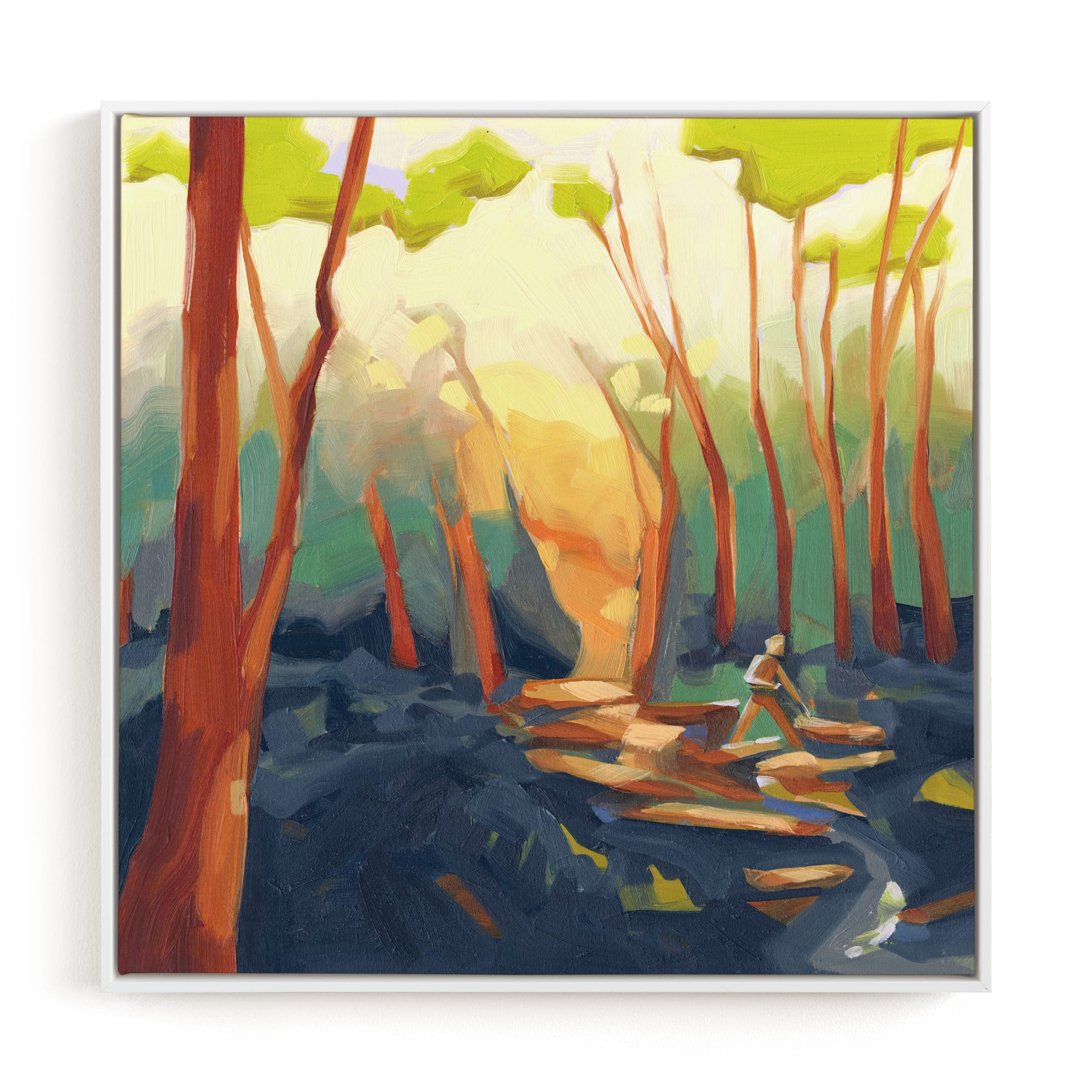Fell In Love With the Tree Feller Art Print