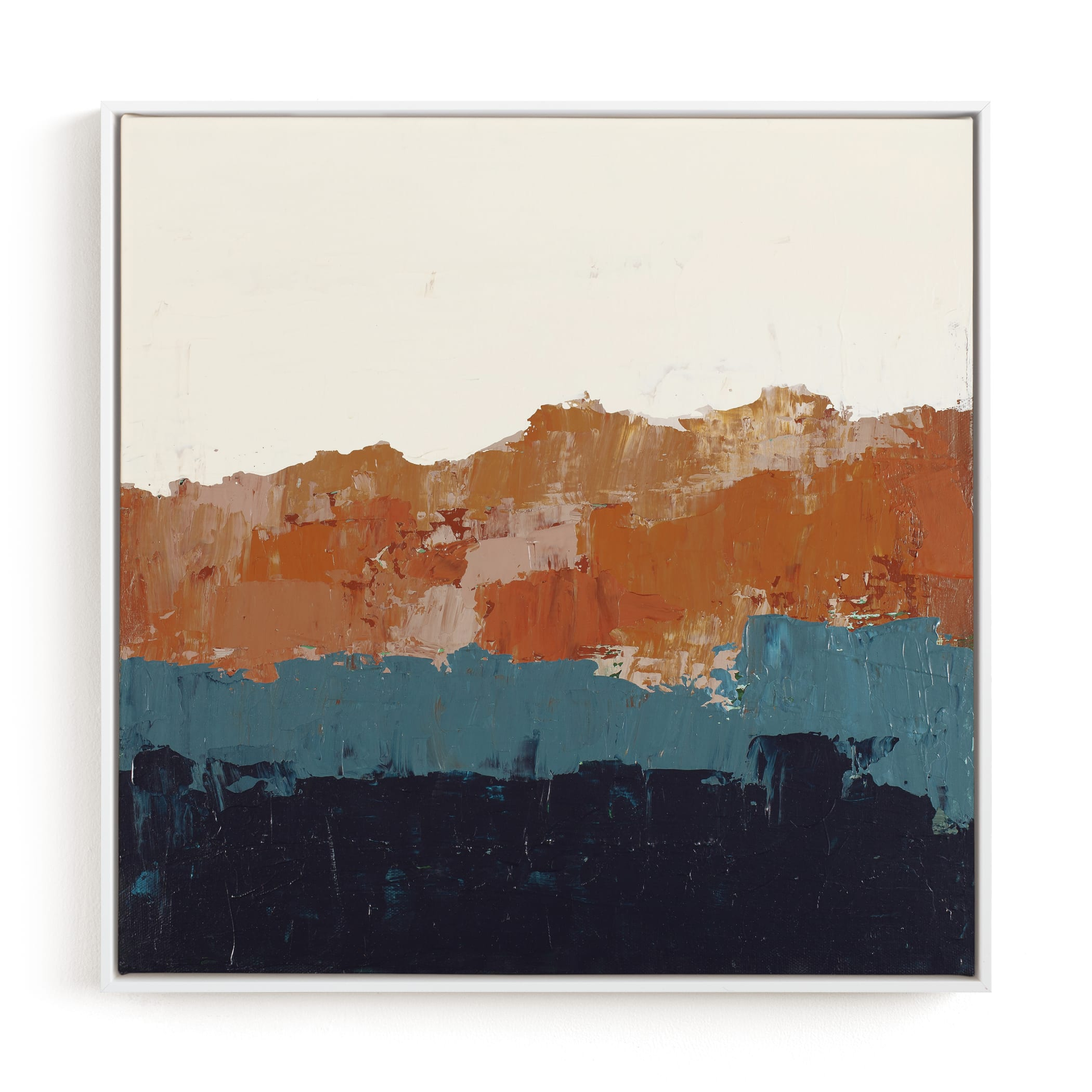 Abstract Color Study Blue and Orange Art Print