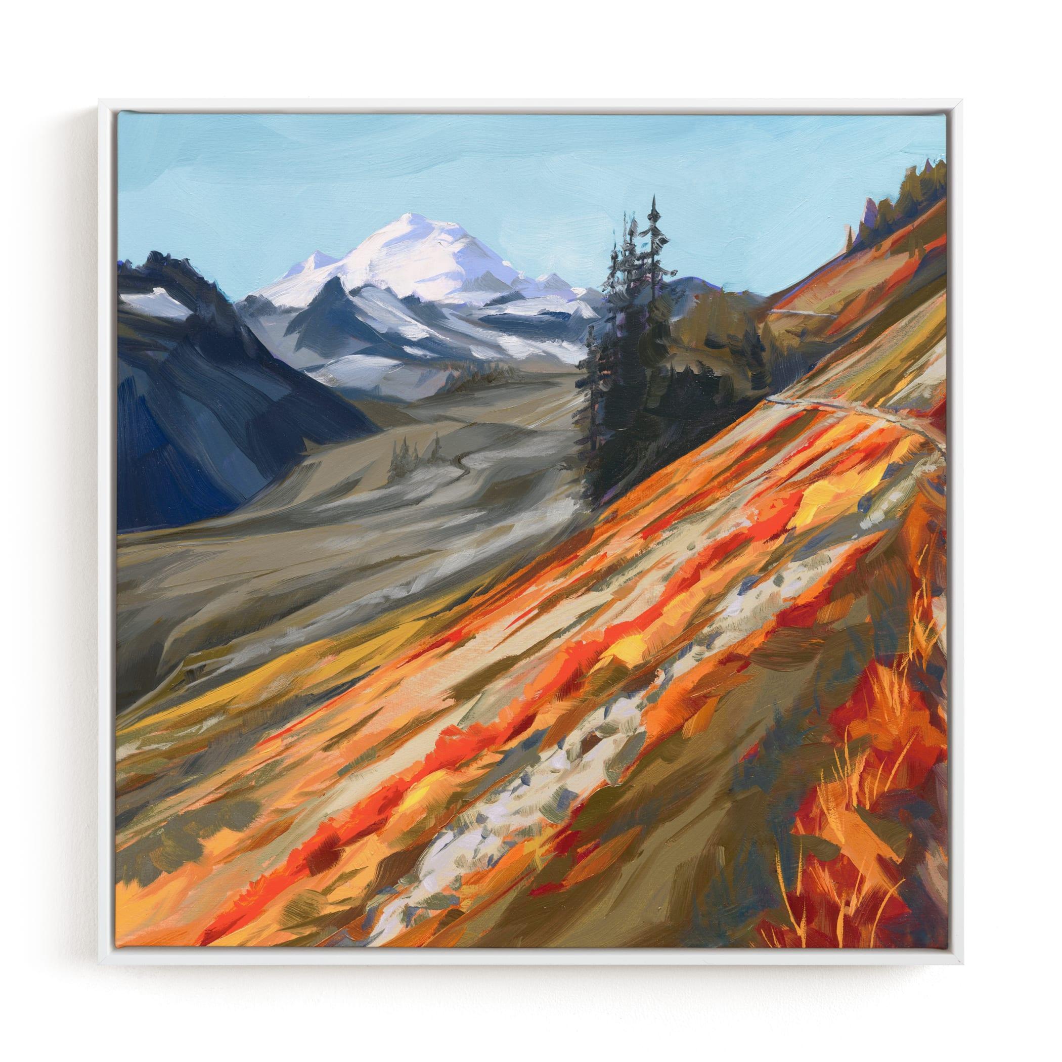 Mount Baker in Autumn Art Print