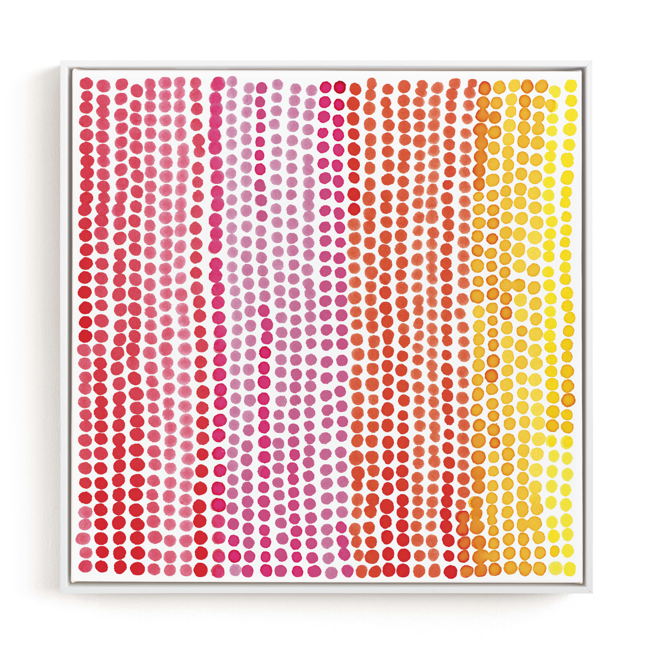 """Rainbow Dots 1"" - Limited Edition Art Print by Kerry Doyle - Paper Dahlia in beautiful frame options and a variety of sizes."