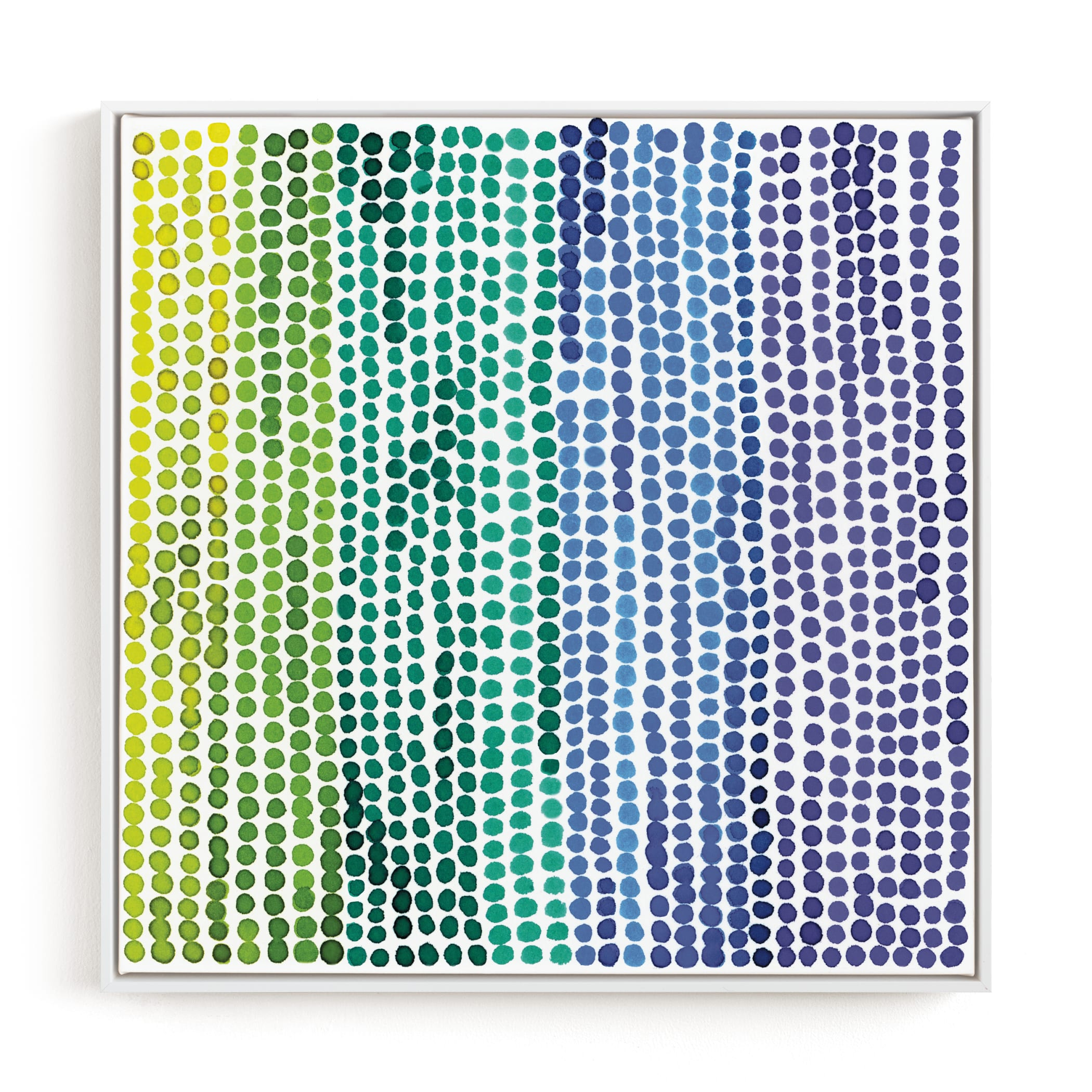 """""""Rainbow Dots 2"""" - Limited Edition Art Print by Kerry Doyle - Paper Dahlia in beautiful frame options and a variety of sizes."""