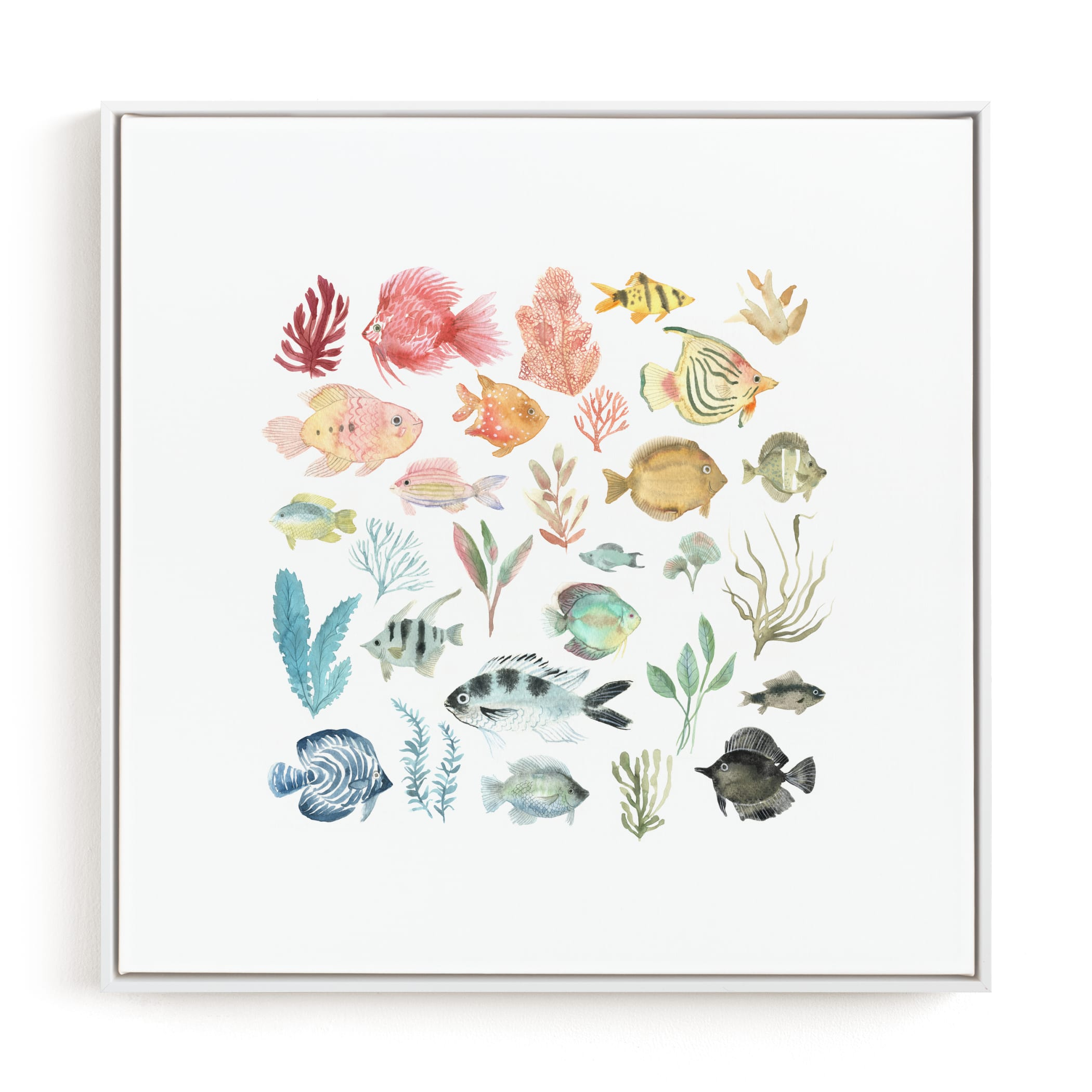 """Tropical Fish"" - Limited Edition Art Print by Emilie Simpson in beautiful frame options and a variety of sizes."