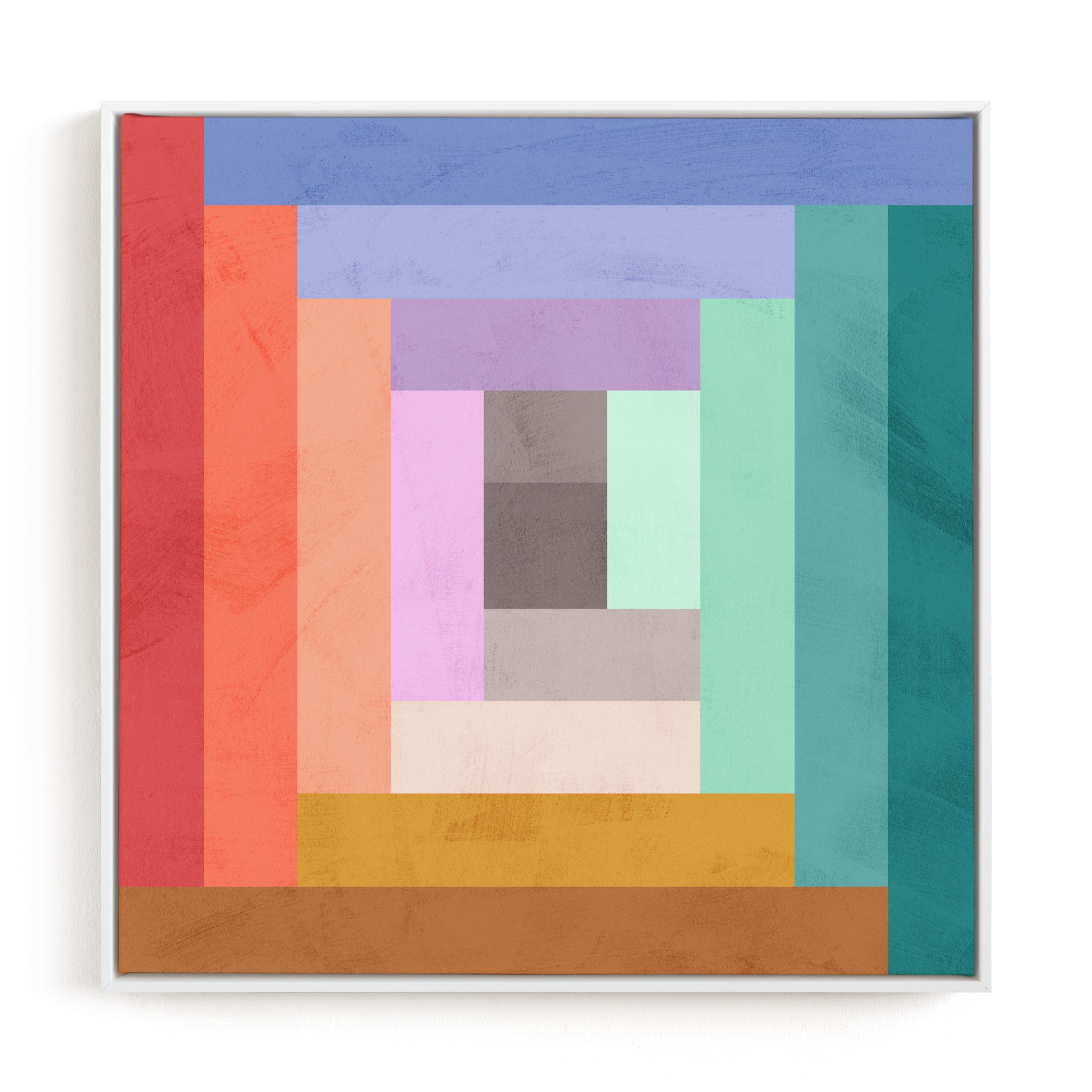"""""""Modern Quilt Geometric"""" - Limited Edition Art Print by Field and Sky in beautiful frame options and a variety of sizes."""