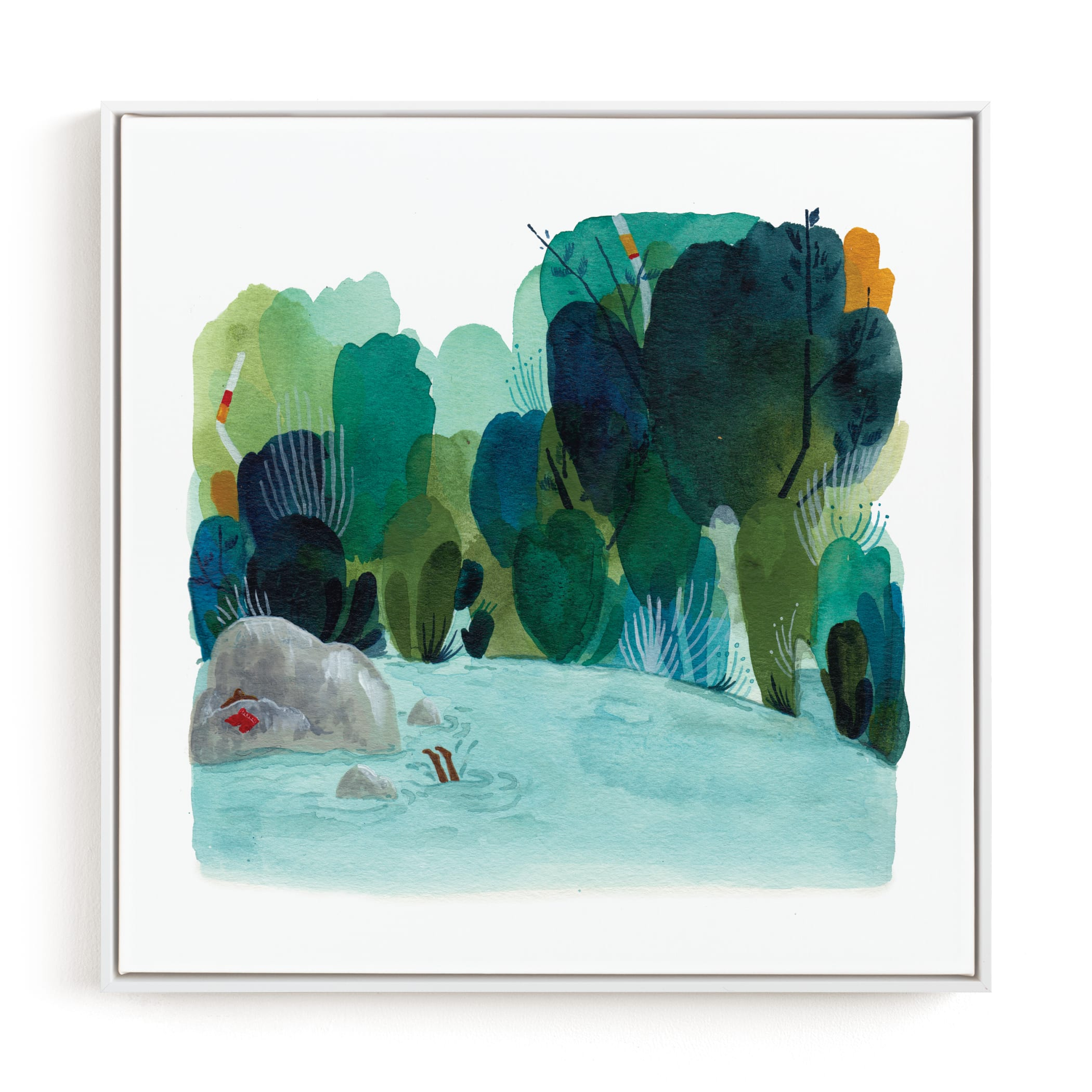 """""""The Swimming Hole"""" - Limited Edition Art Print by Kayla King in beautiful frame options and a variety of sizes."""