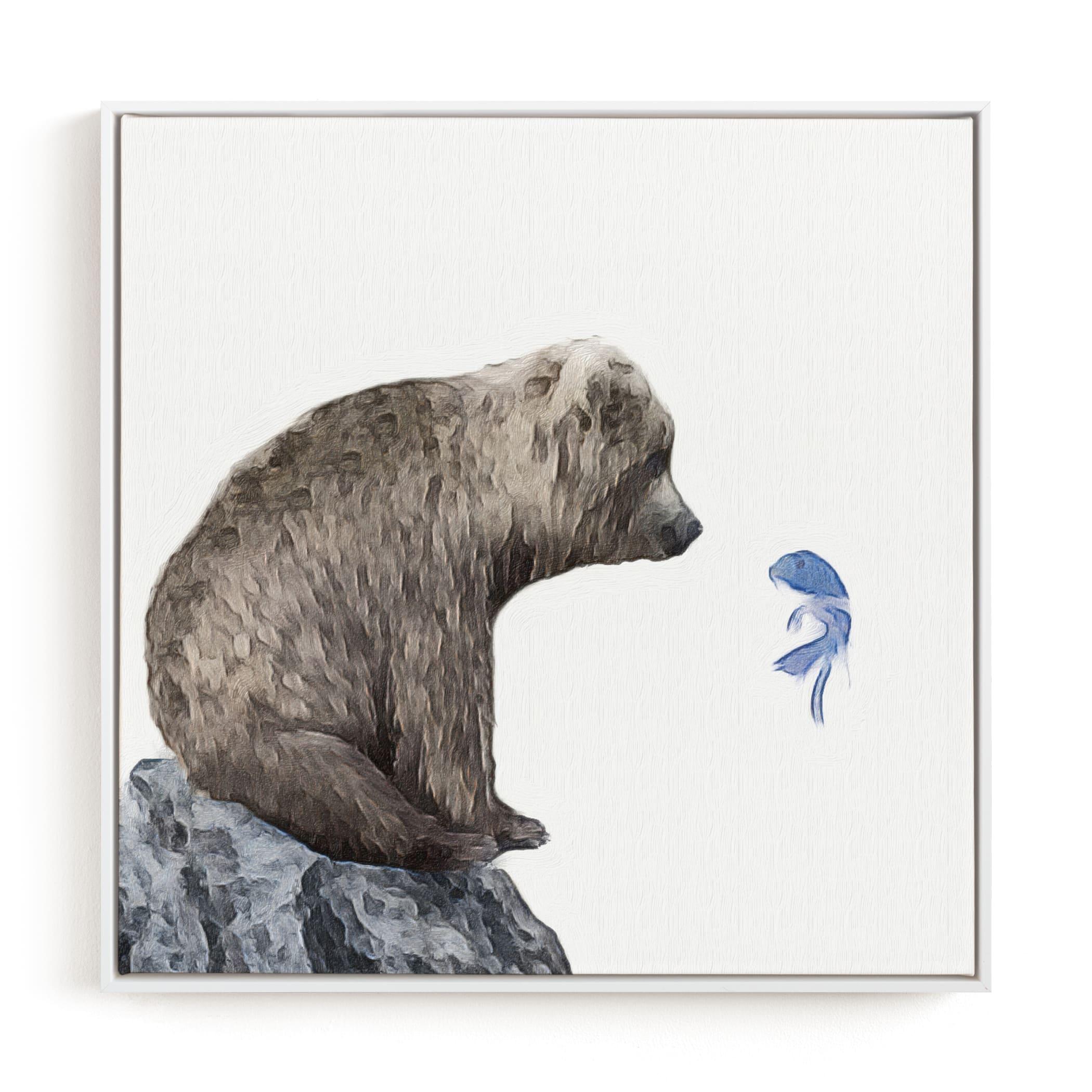 Blue Fish Wish Children's Art Print