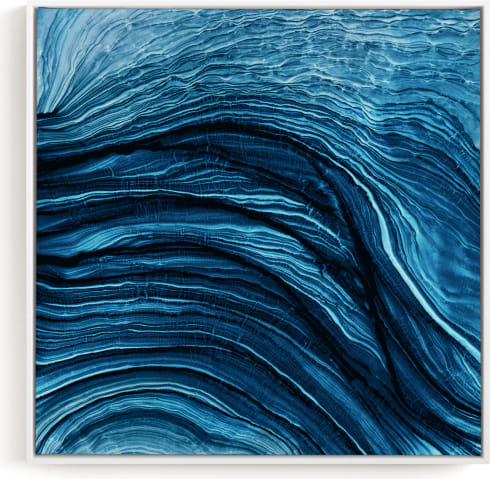 This is a blue art by Rebecca Rueth called Agate.