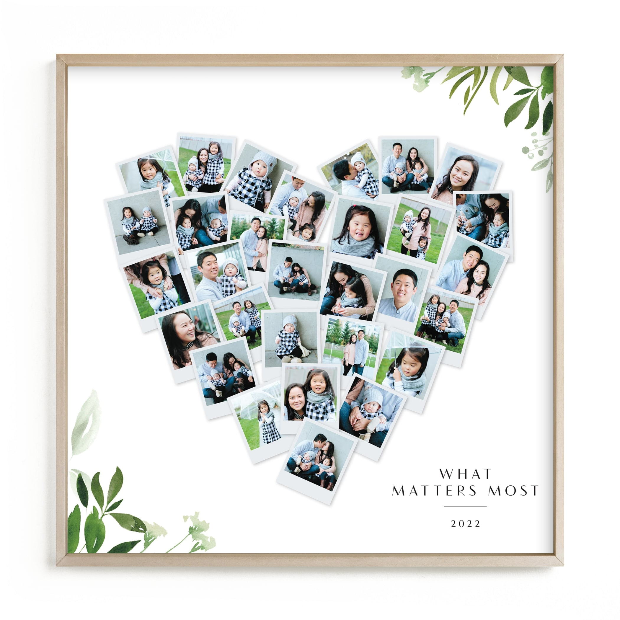 Floral Heart Snapshot Mix® Custom Photo Art Print