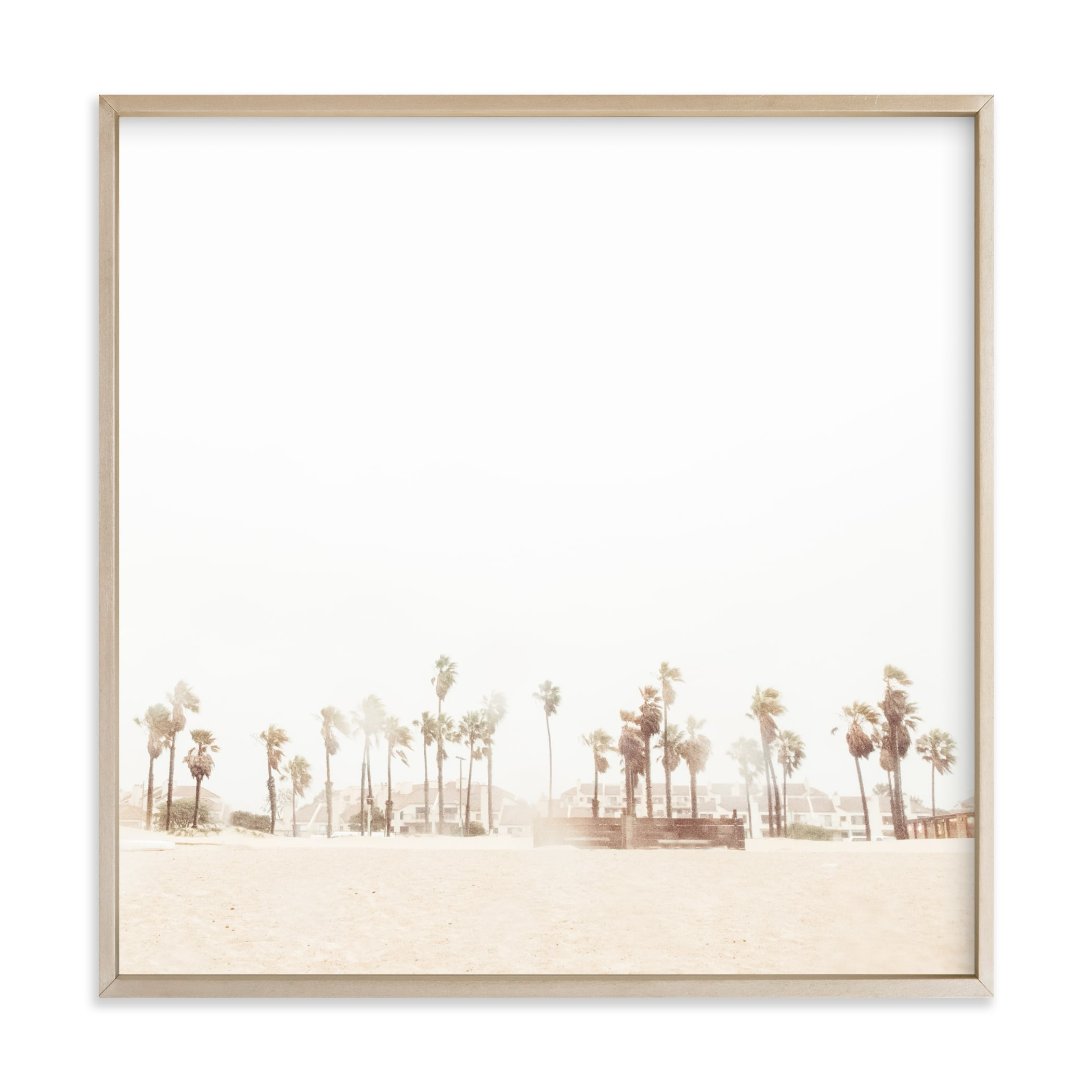 """""""Stormy Palms"""" - Limited Edition Art Print by Kamala Nahas in beautiful frame options and a variety of sizes."""