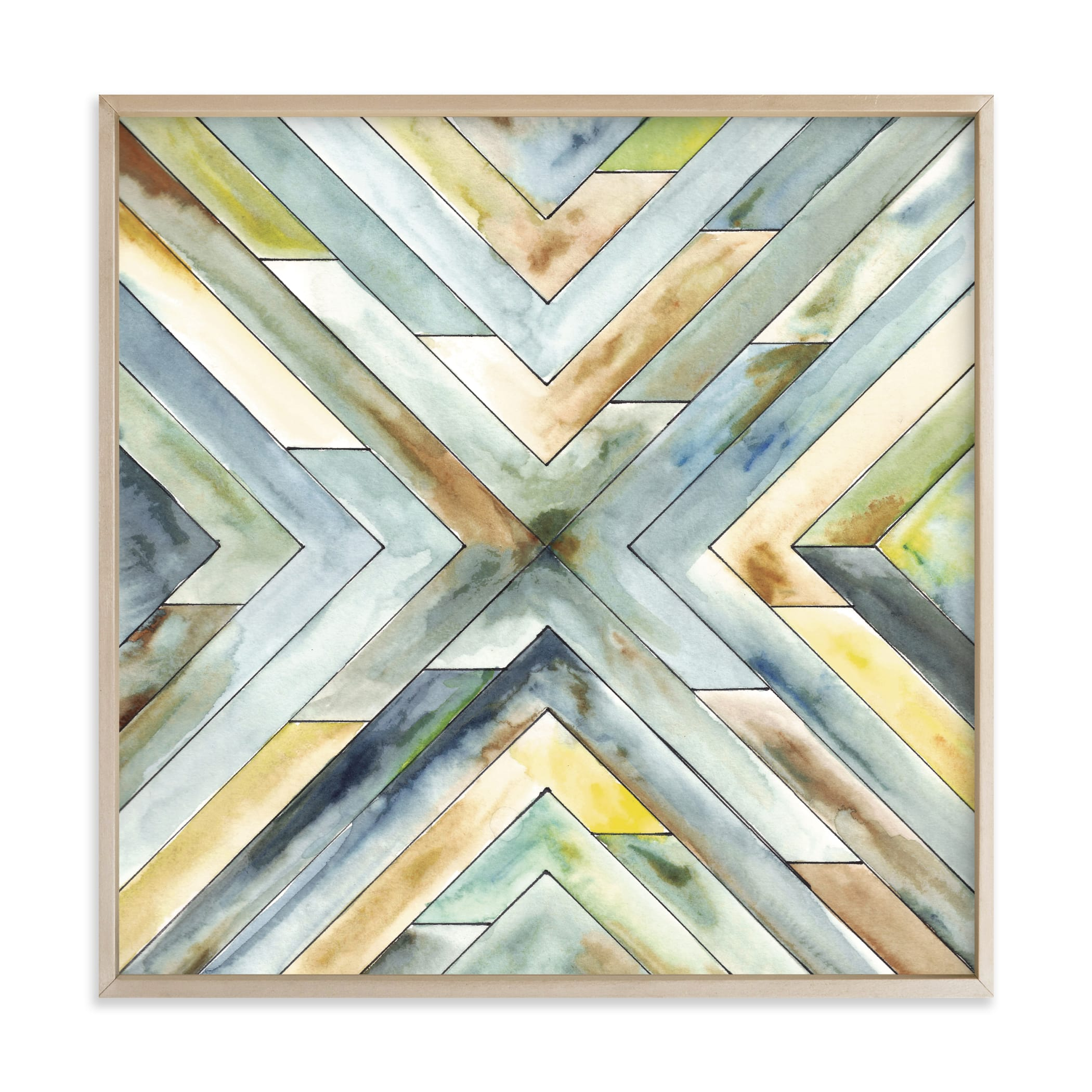 """""""Angular Organic"""" - Grownup Open Edition Non-custom Art Print by Jennifer Morehead in beautiful frame options and a variety of sizes."""