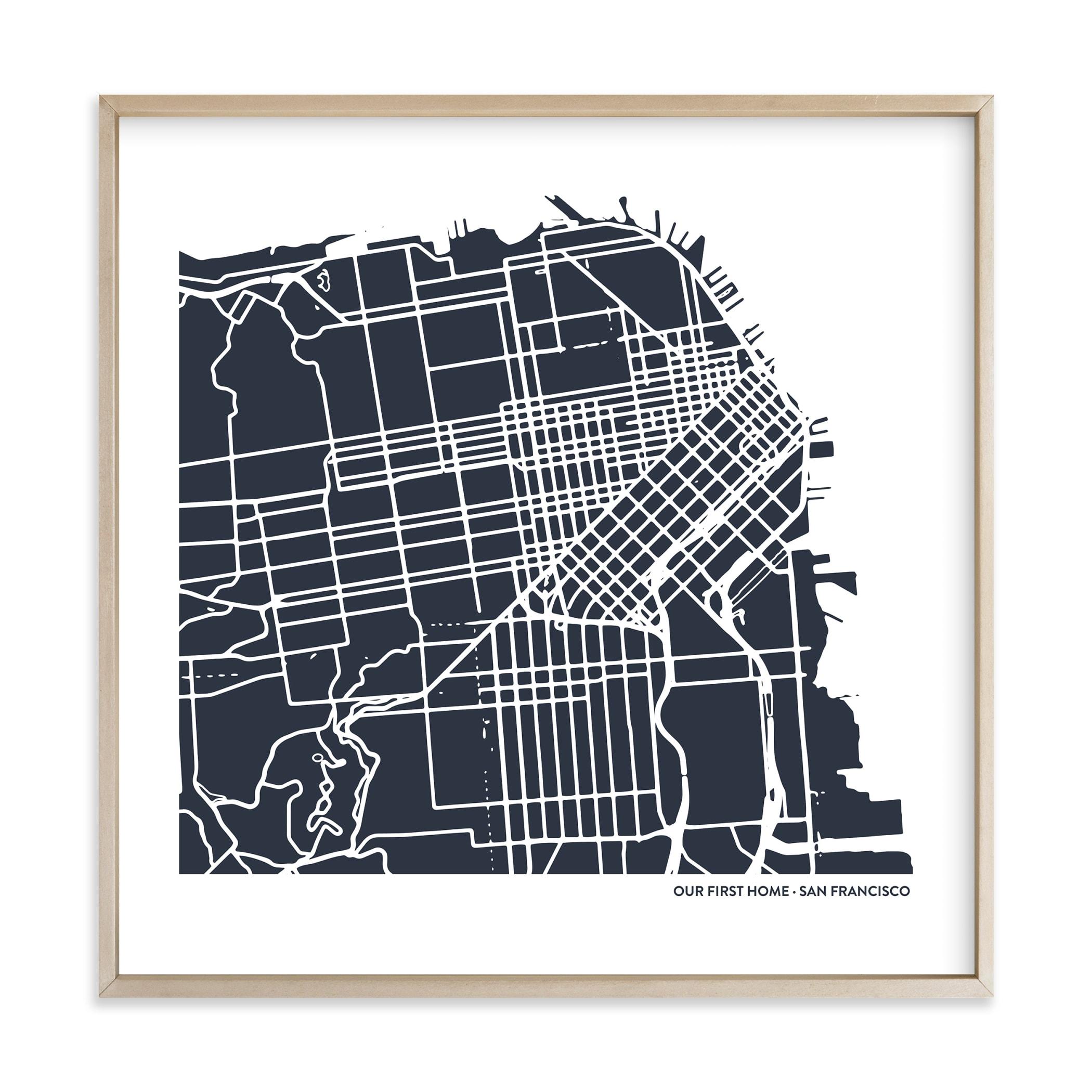 Custom Filled Map Art Custom Map Art