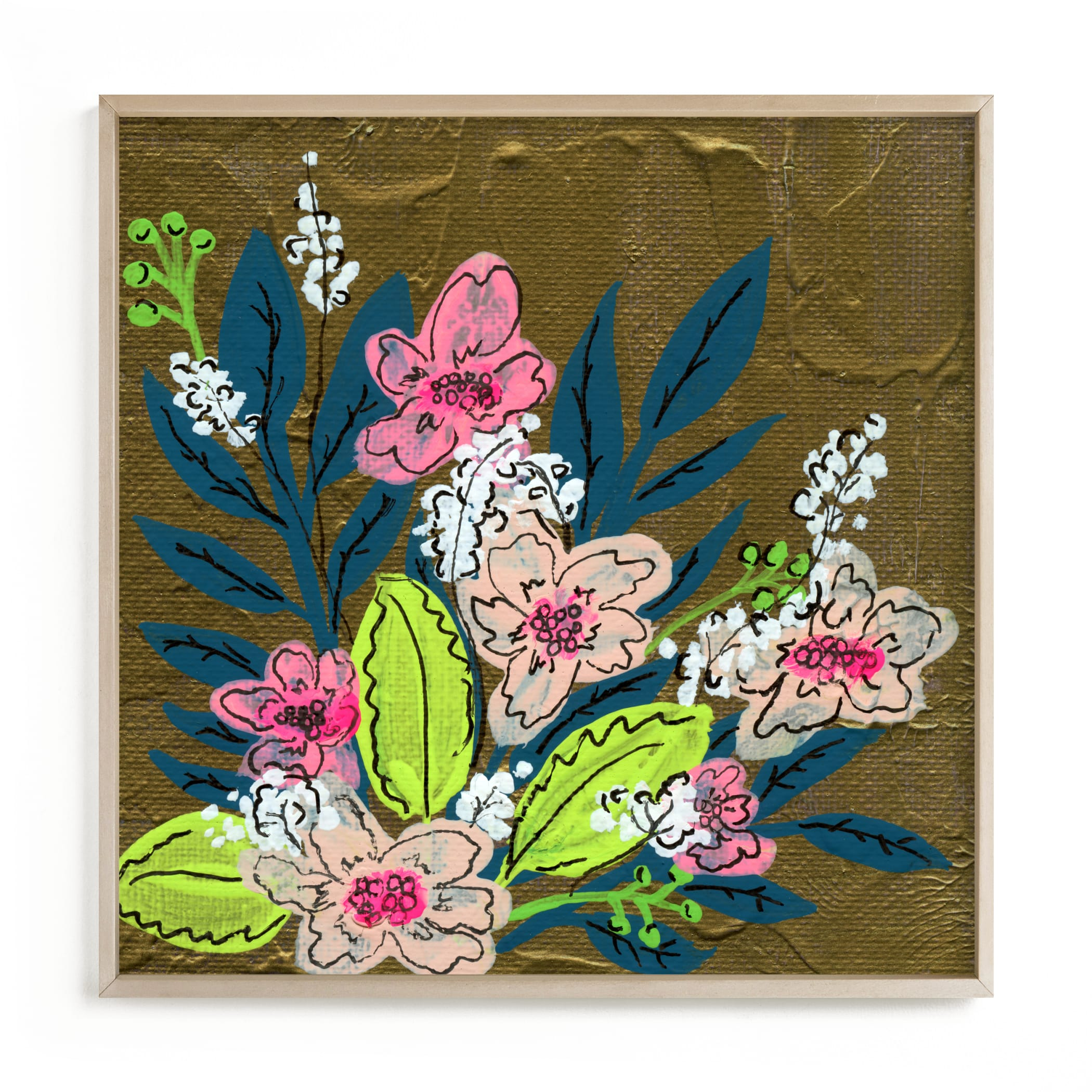 """""""Vivid Flora I"""" by Calee A.H. Cecconi in beautiful frame options and a variety of sizes."""