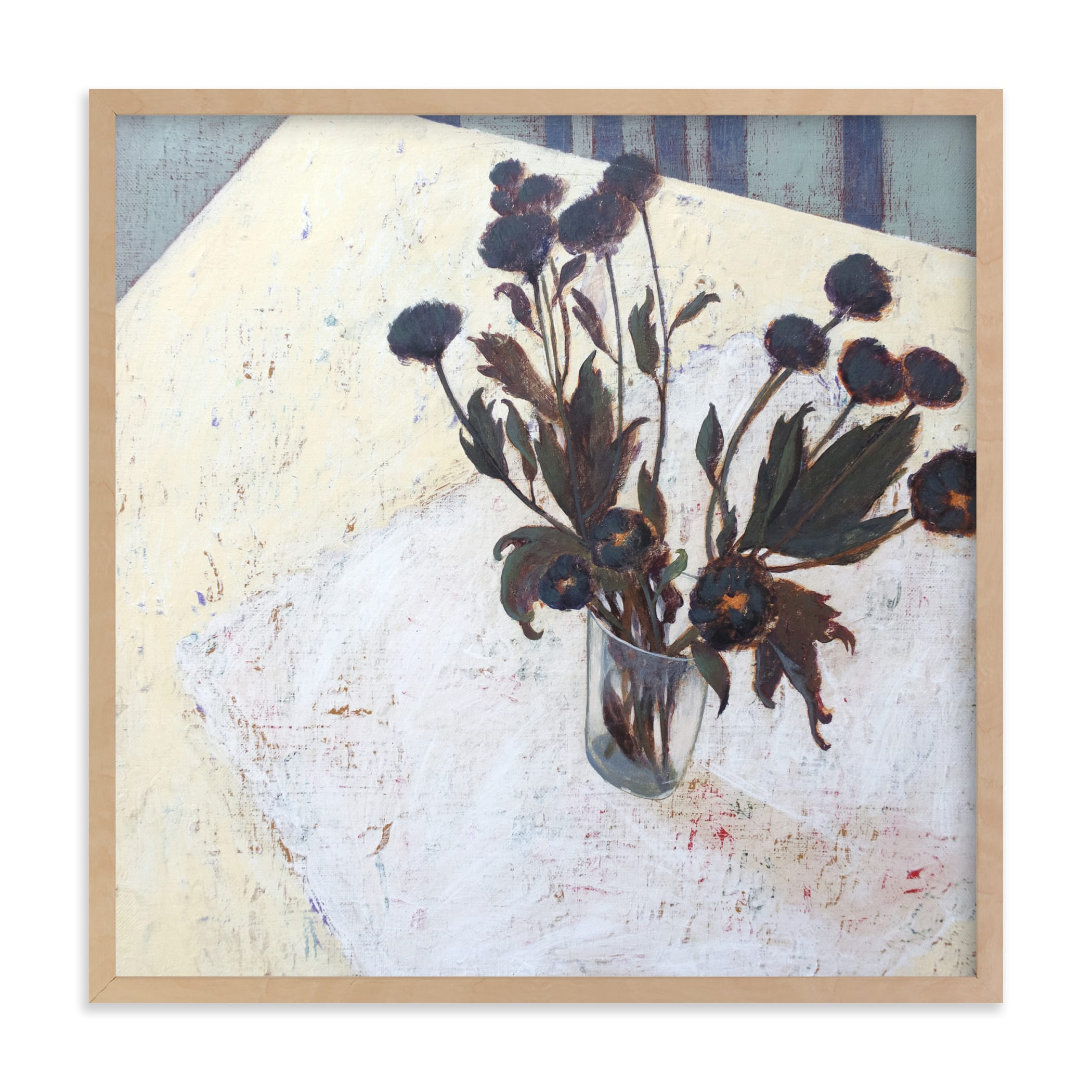 """""""Still life with Chrysanthemums"""" - Limited Edition Art Print by Ayna Paisley in beautiful frame options and a variety of sizes."""