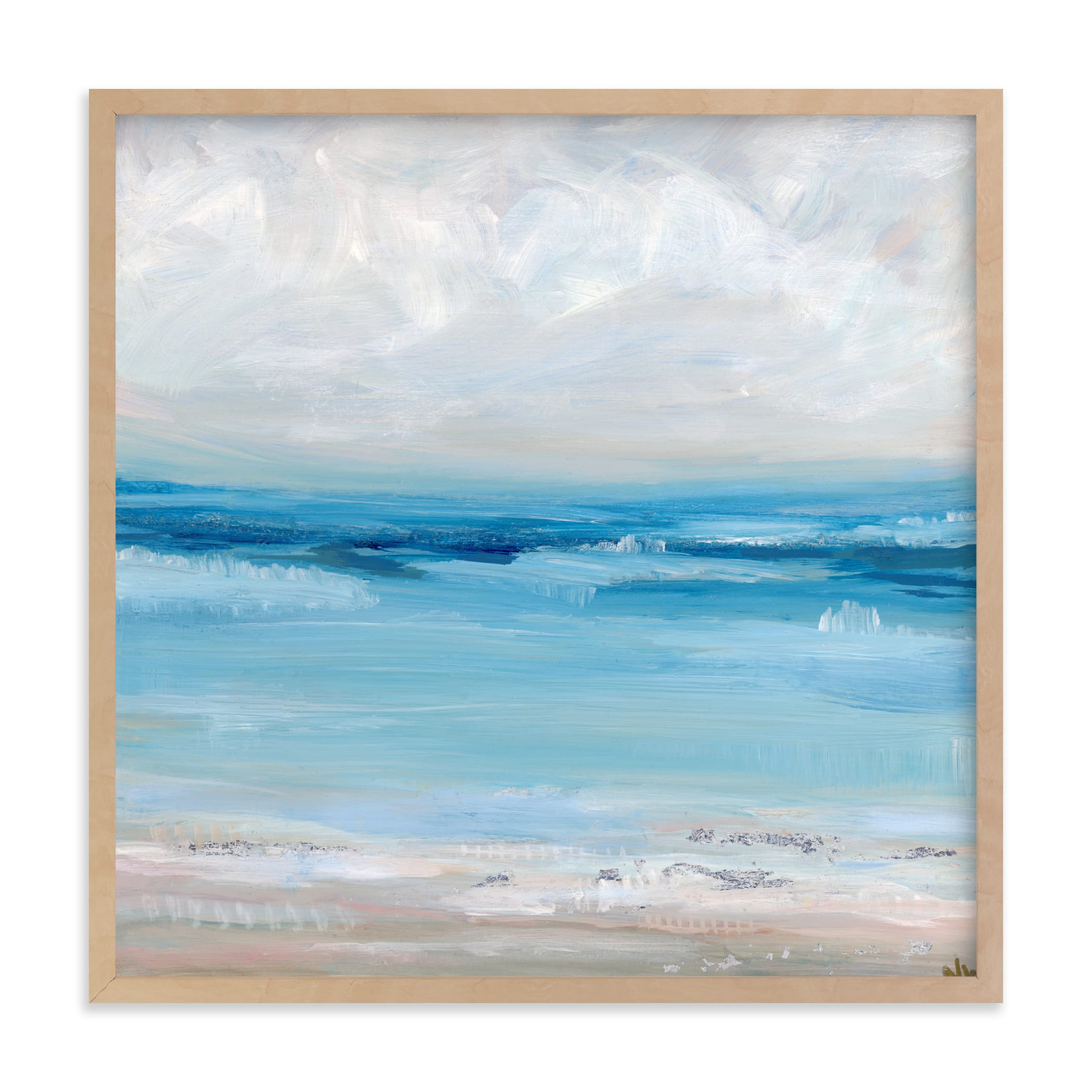 This is a blue art by Nicole Walsh called Of the Sea.